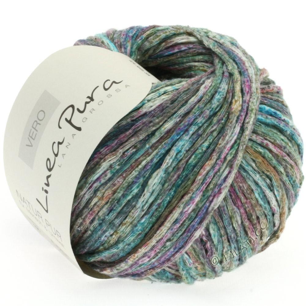 Lana Grossa VERO uni/print (Linea Pura) | 105-dark green/turquoise/purple/mint