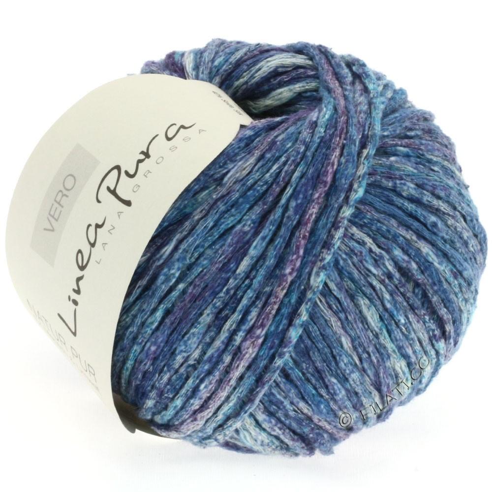 Lana Grossa VERO uni/print (Linea Pura) | 106-petrol blue/purple/natural/jeans