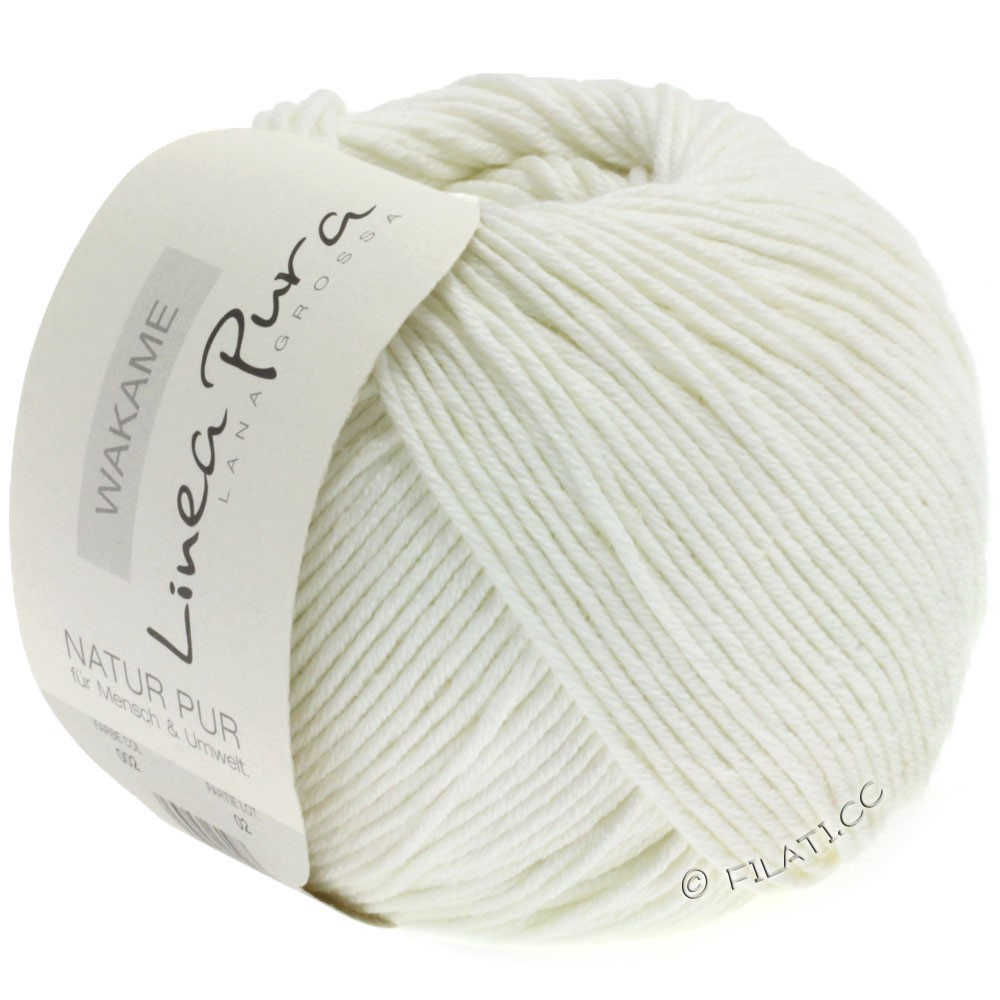 Lana Grossa WAKAME Uni/Print (Linea Pura) | 002-raw white
