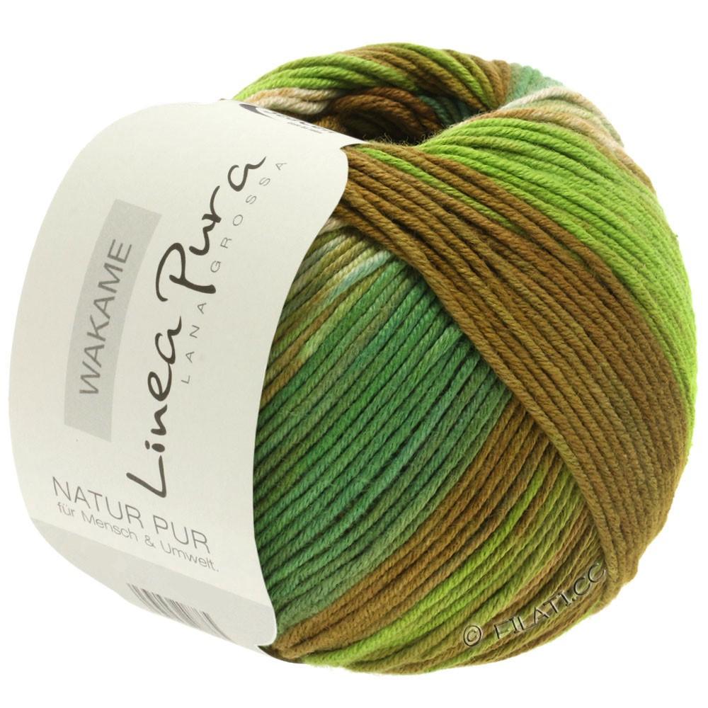 Lana Grossa WAKAME Uni/Print (Linea Pura)   113-beige/brown/light green/dark green
