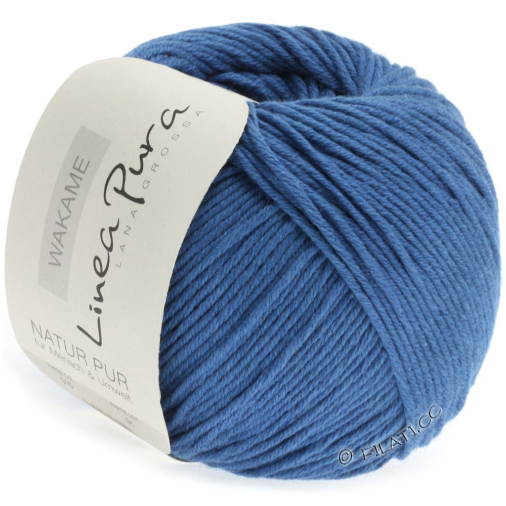 Lana Grossa WAKAME Uni/Print (Linea Pura) | 015-blue
