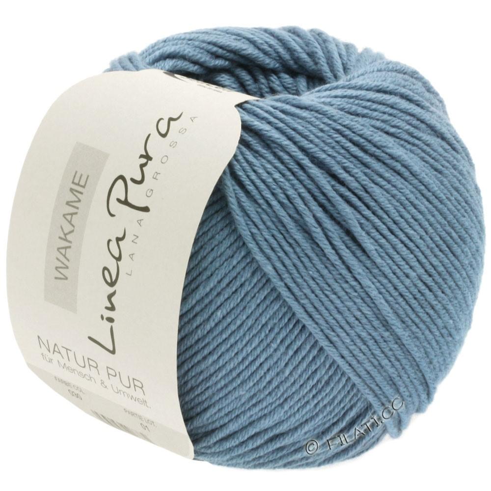 Lana Grossa WAKAME Uni/Print (Linea Pura) | 030-gray blue
