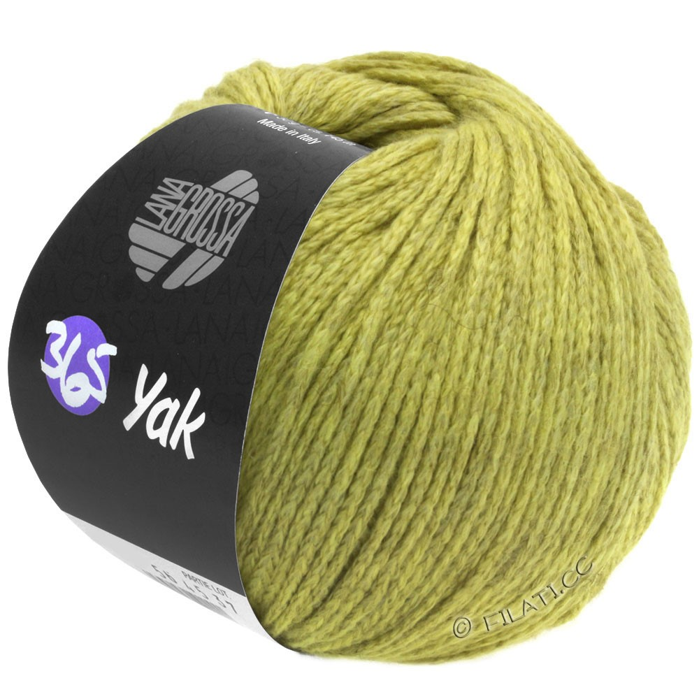 Lana Grossa 365 YAK | 05-green beige/light gray