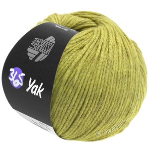 Lana Grossa 365 YAK | 05-yellow green/light gray