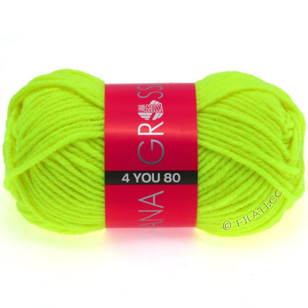 Lana Grossa NEON-4YOU 80 | 801-neon yellow