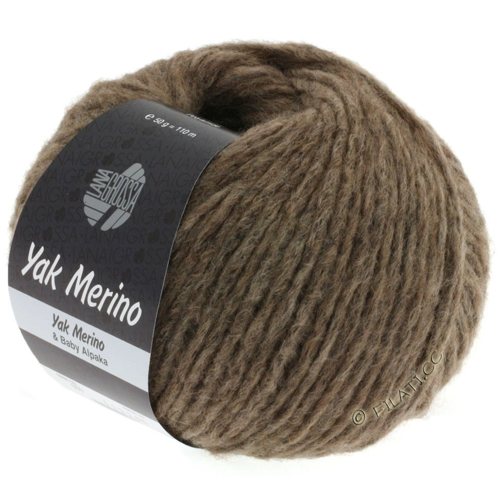 Lana Grossa YAK MERINO  Uni | 009-gray brown mottled