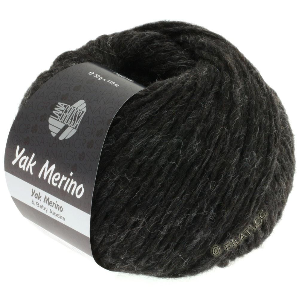 Lana Grossa YAK MERINO | 012-black brown mottled