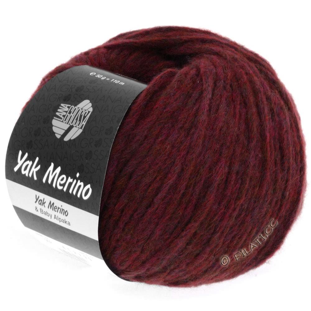 Lana Grossa YAK MERINO | 013-wine red mottled