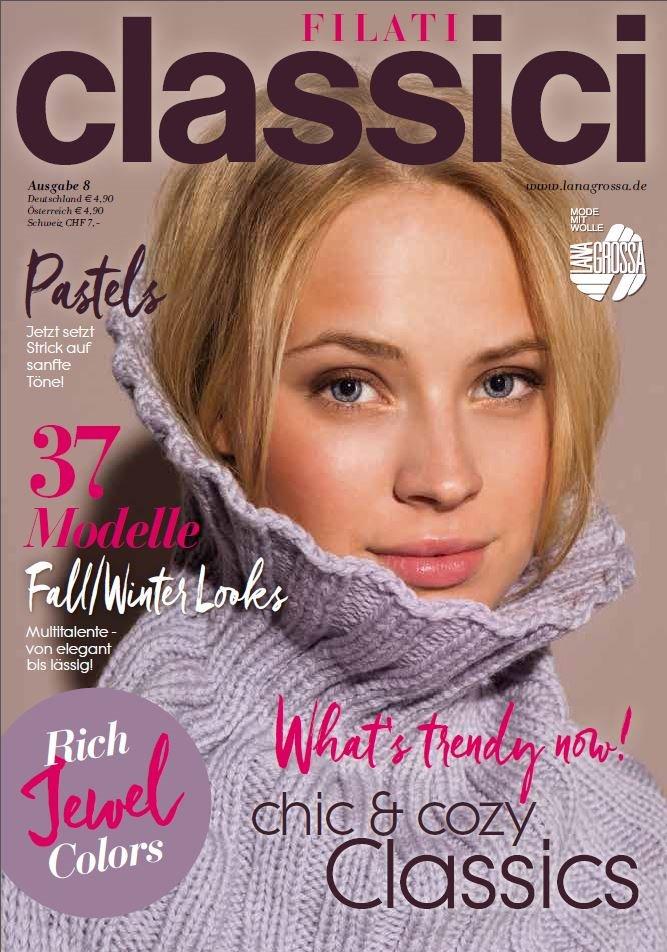 Lana Grossa FILATI CLASSICI No. 8 - Журнал на немецком и на русском языке инструкции