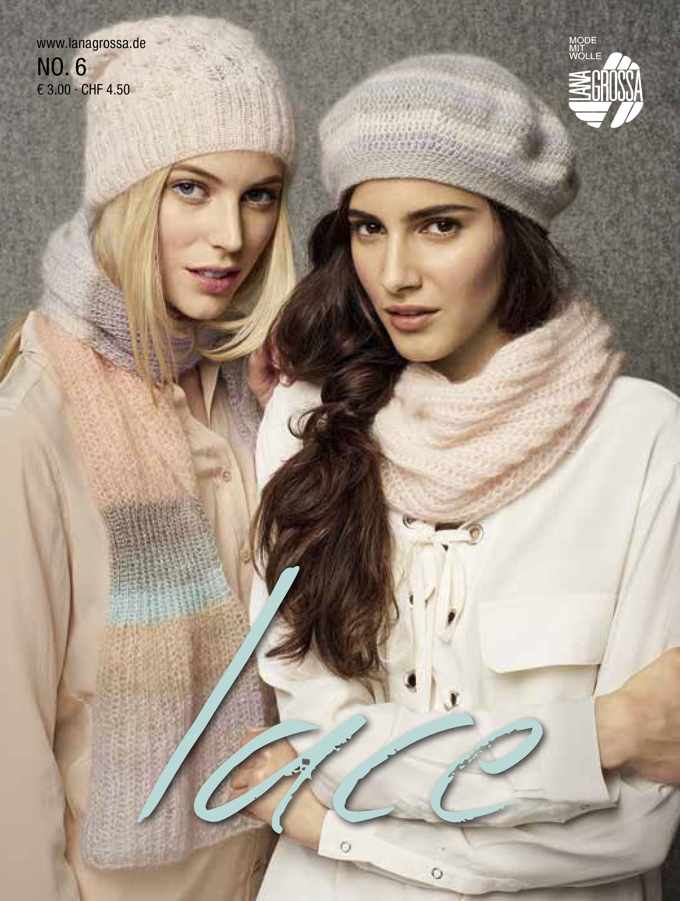 Lana Grossa LACE No. 6 - Журнал на немецком и на русском языке инструкции