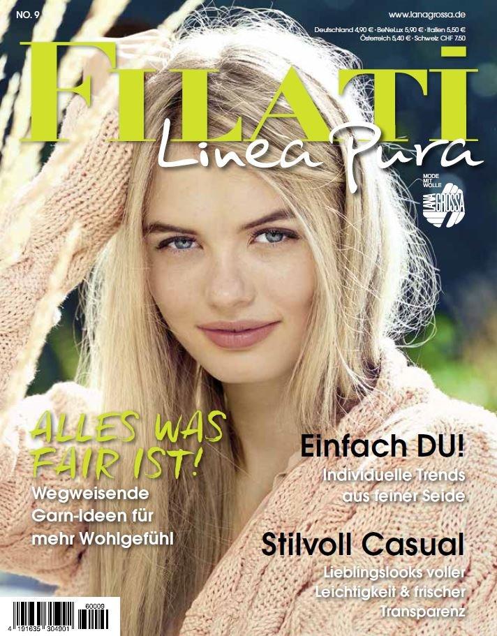 Lana Grossa LINEA PURA No. 9 - Журнал на немецком и на русском языке инструкции