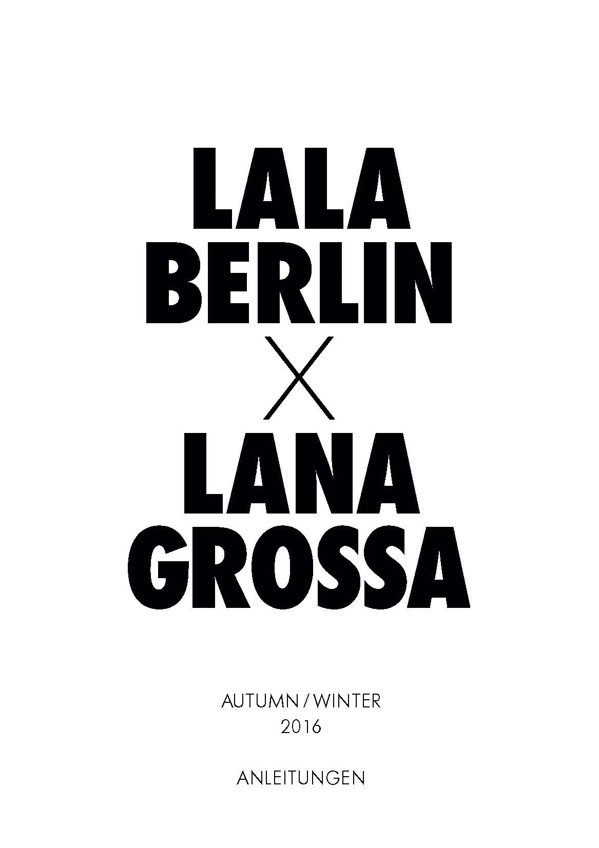 Lana Grossa LALA BERLIN Booklet - English Edition