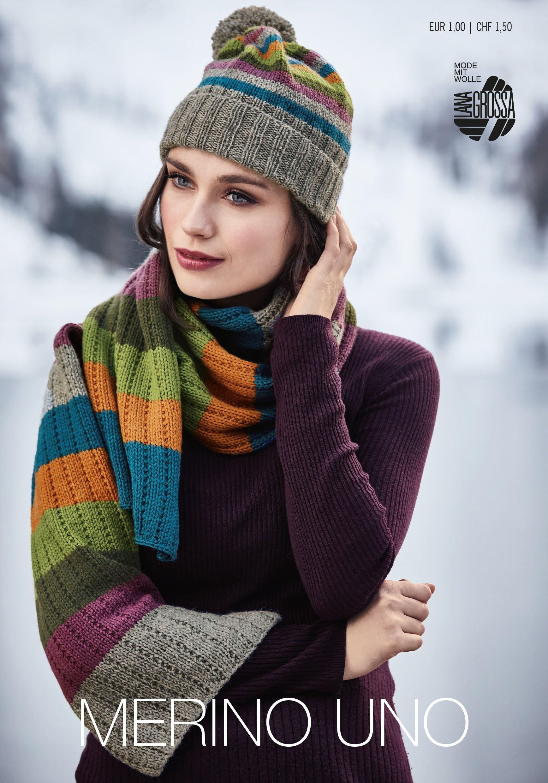 Lana Grossa MERINO UNO Flyer - Magazine (DE) + Knitting instructions (EN)