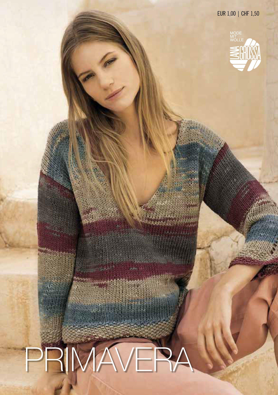 Lana Grossa PRIMAVERA Flyer 2018 - Magazine (DE) + Knitting instructions (EN)