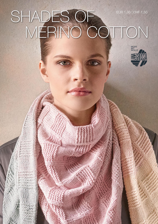 Shades Of Merino Cotton Flyer German Edition Lana Grossa Knitting Magazine