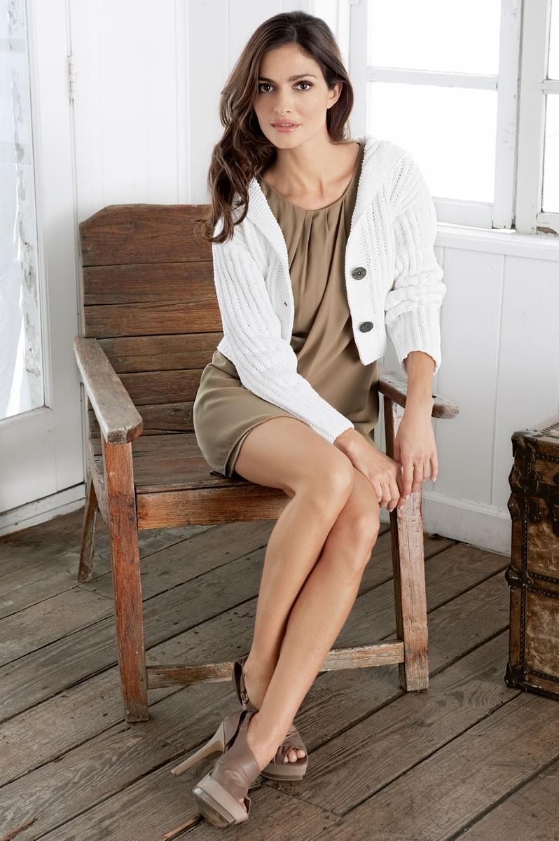 Lana Grossa CARDIGAN IN RIB AND SLIP STITCH PATTERN Elastico Big
