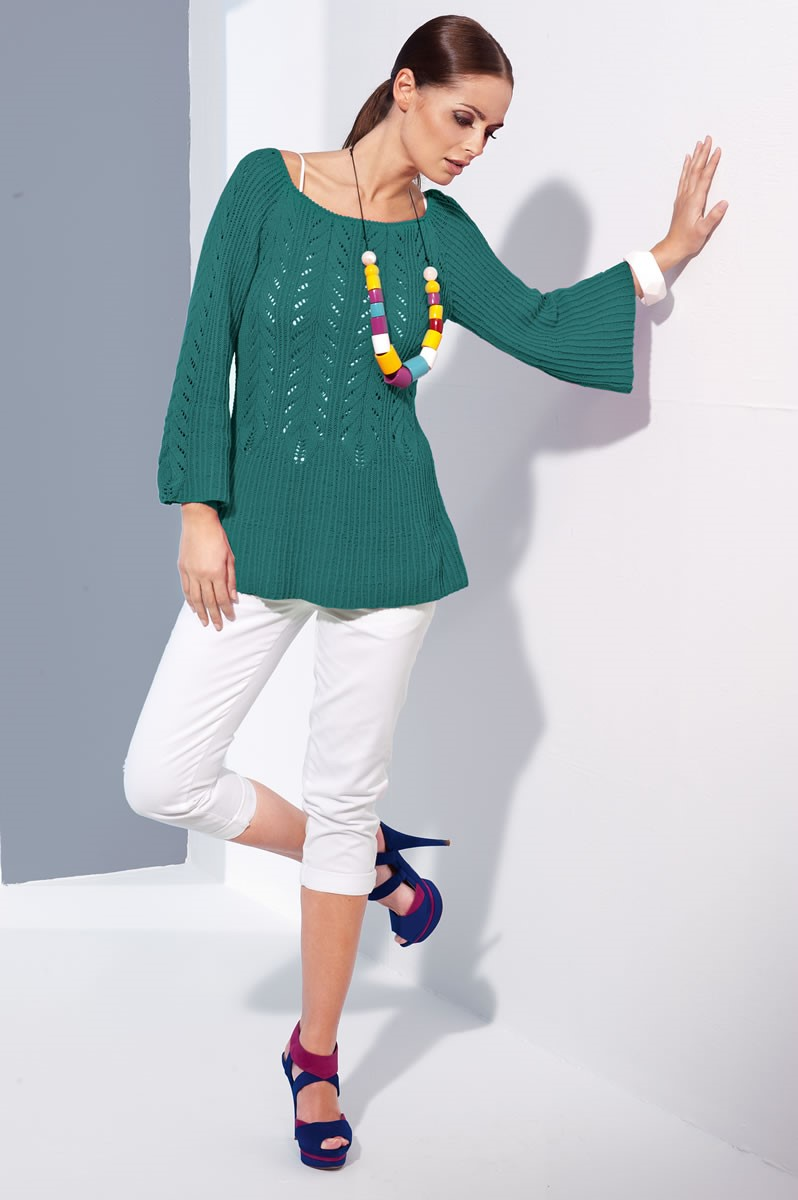 Lana Grossa TUNIC IN RIB AND LACE PATTERN Elastico