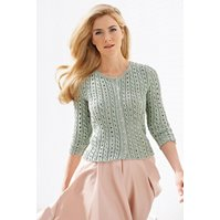 Lana Grossa CARDIGAN IN LACE AND CABLE PATTERN Linarte