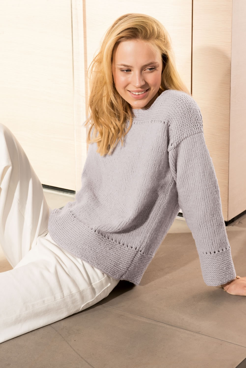 Lana Grossa PULLOVER in Cool Wool Big