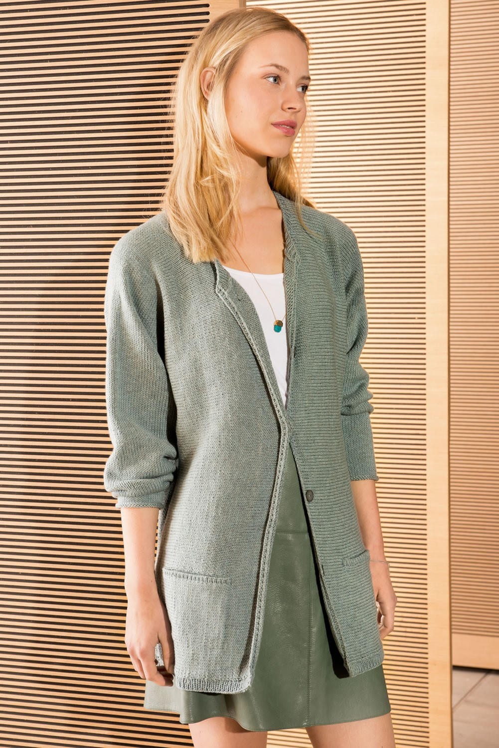 Lana Grossa JACKET in Cool Wool Melange
