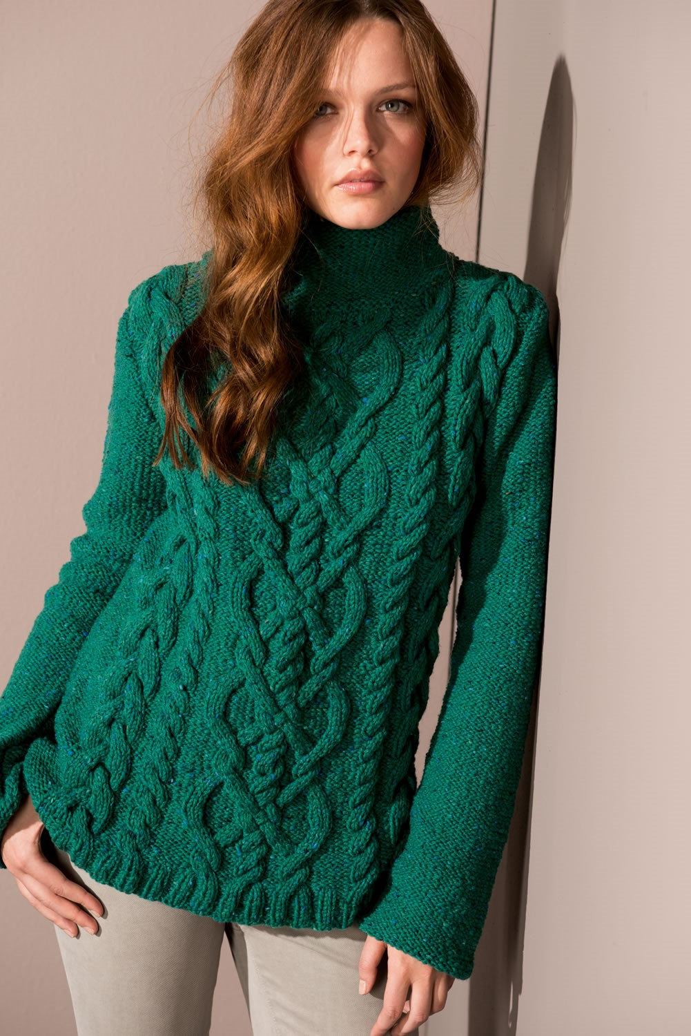Lana Grossa PULLOVER in Royal Tweed