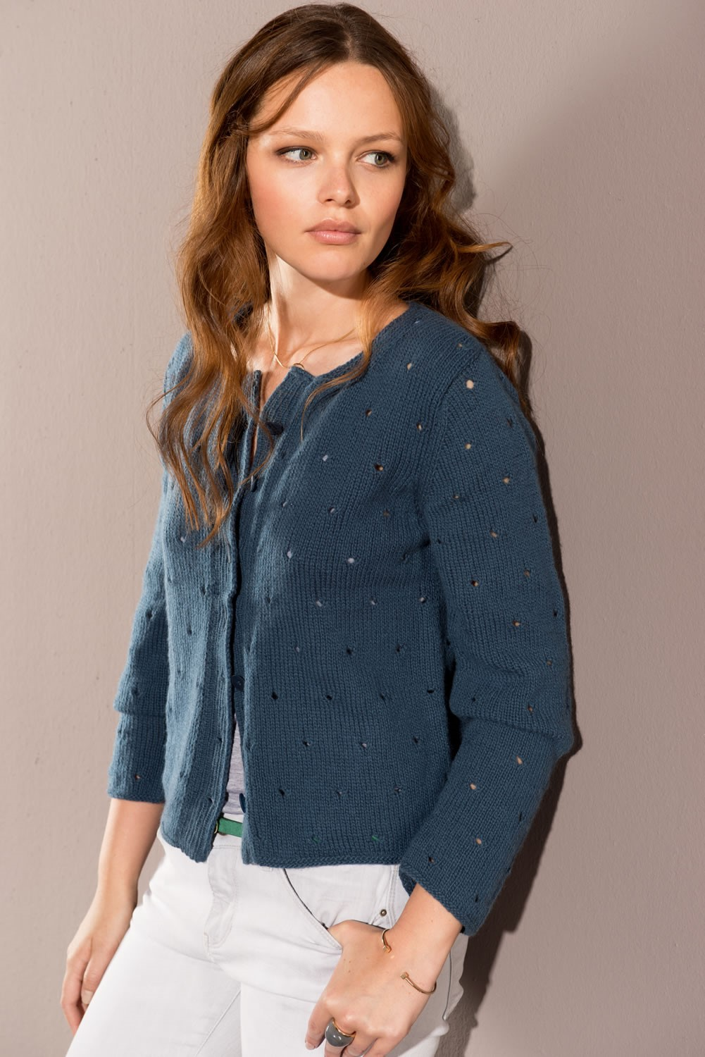Lana Grossa JACKET in Solo Cashmere 110