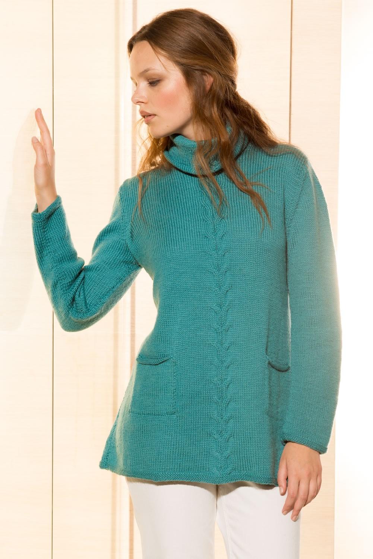 Lana Grossa PULLOVER in Cool Wool Alpaca