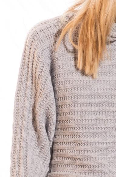 Lana Grossa KIMONO PULLOVER in Cool Wool Alpaca