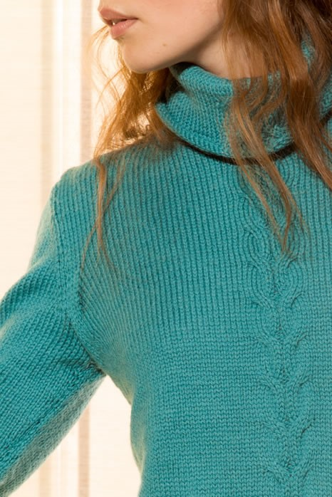 Lana Grossa PULLOVER in Cool Wool Alpaca