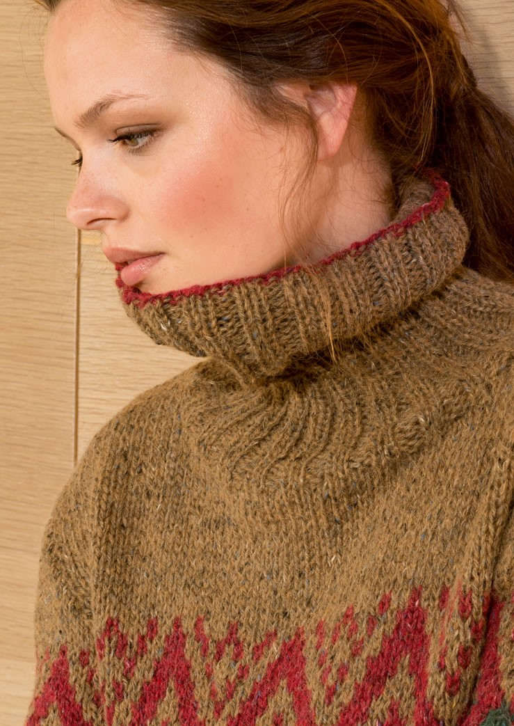 Lana Grossa FAIR ISLE PULLOVER in Ascot