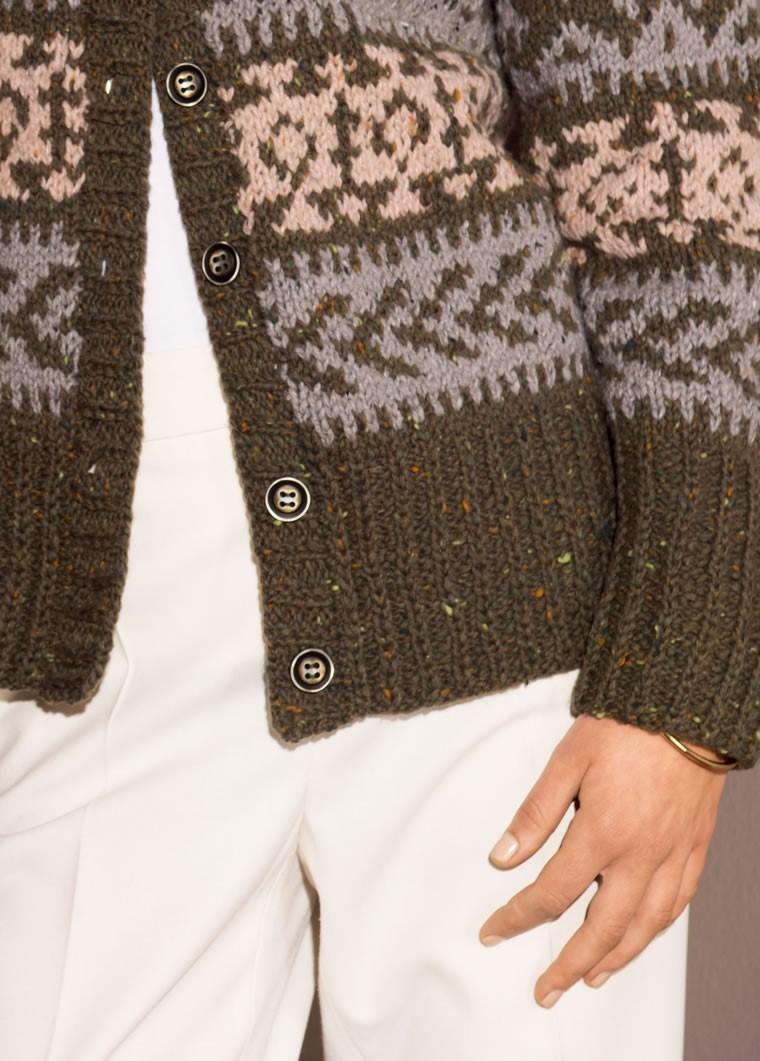 Lana Grossa Fair Isle Jacket in Royal Tweed