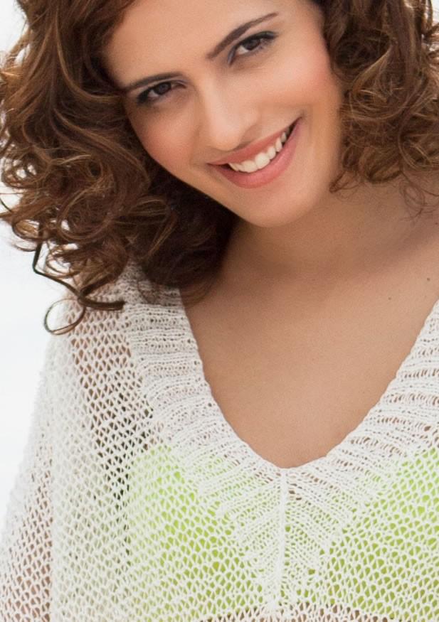 Lana Grossa SWEATER IN DROP STITCH PATTERN Aria