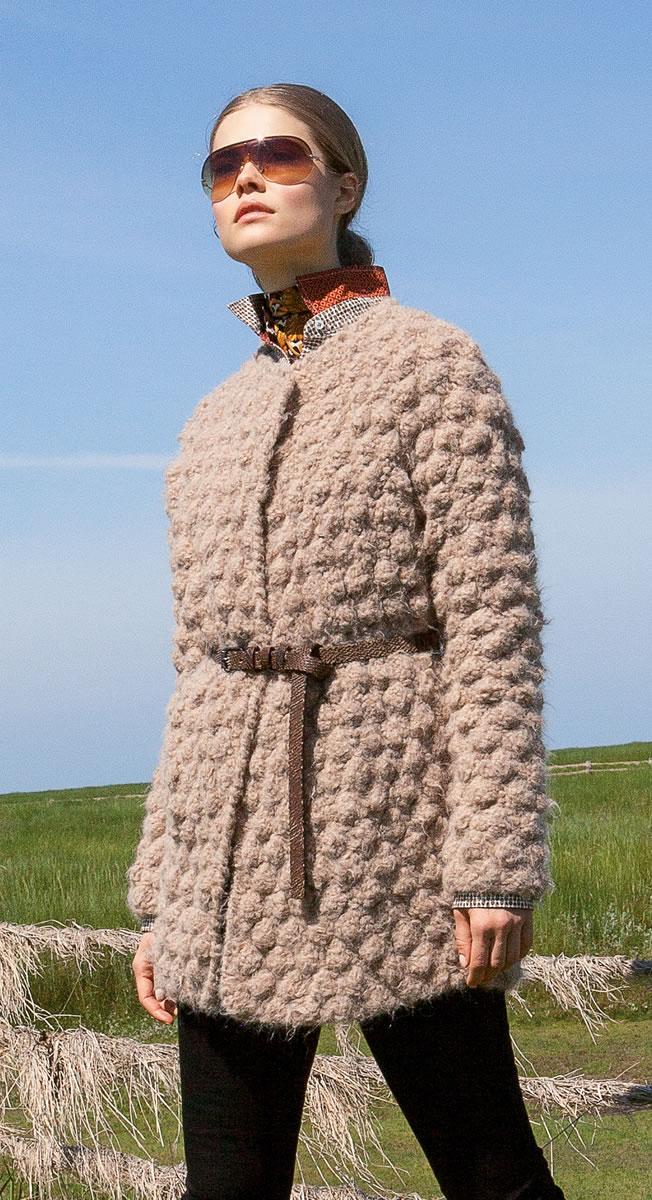 Lana Grossa JACKET Hairy FILATI Handstrick No. 61 - Design 3 FILATI Knitt...