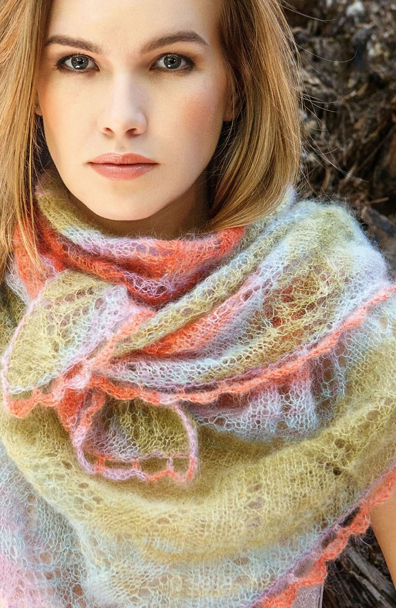 Lana Grossa SHAWL Silkhair print