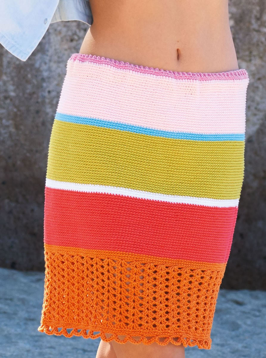 Lana Grossa CROCHETED SKIRT Cotone
