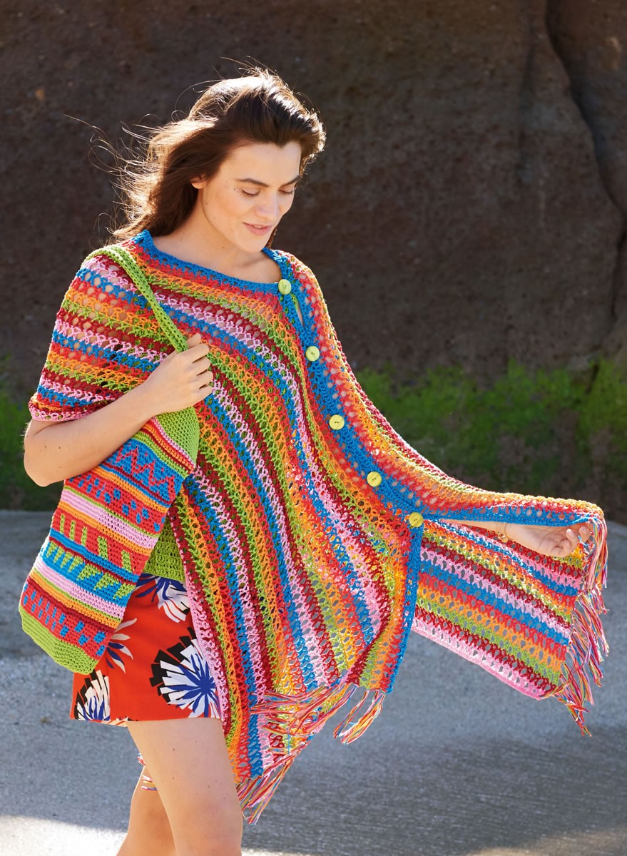 Lana Grossa CROCHETED PONCHO Aria