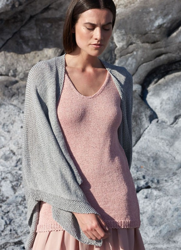 Lana Grossa V-NECK TOP IN STOCKINETTE Lavato
