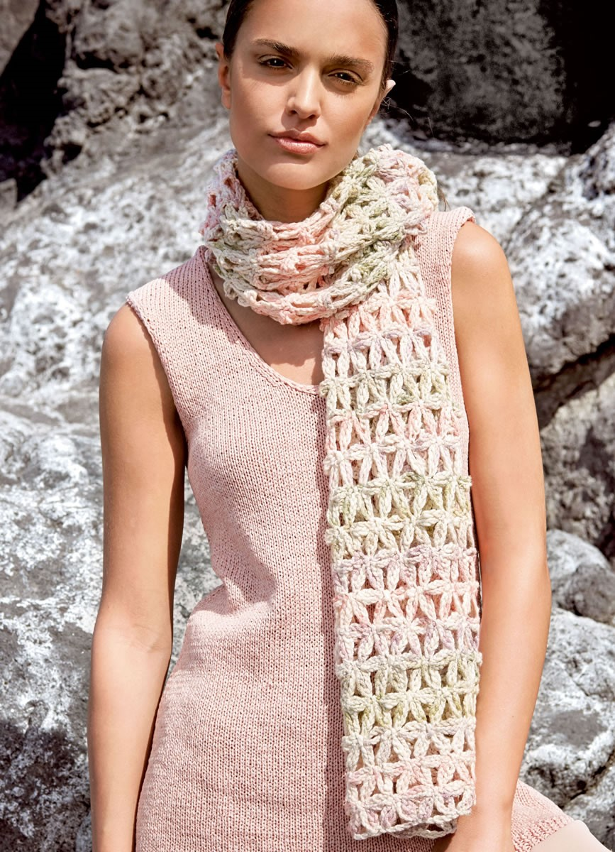 Lana Grossa CROCHETED SCARF Multi