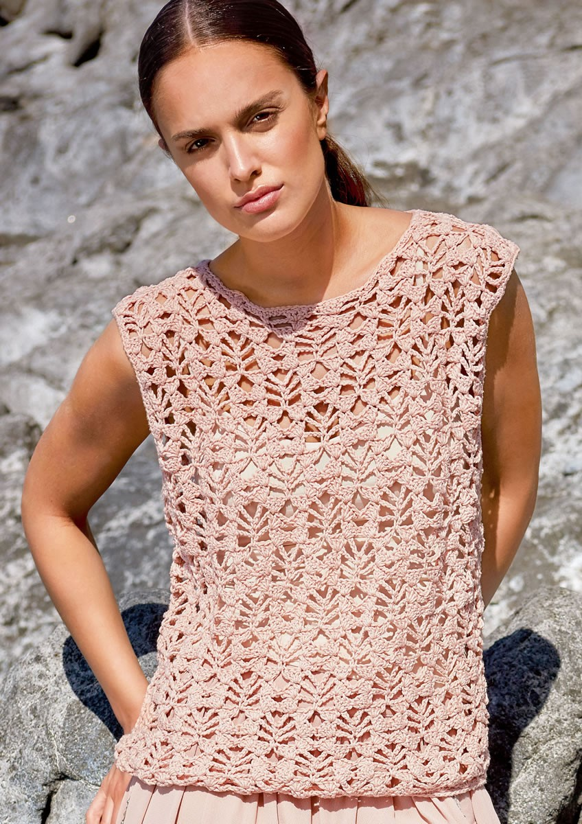 Lana Grossa CROCHETED TOP Wakame