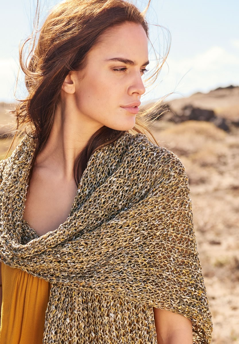 Lana Grossa SCARF IN SEEDED RIB PATTERN Dacapo Multi