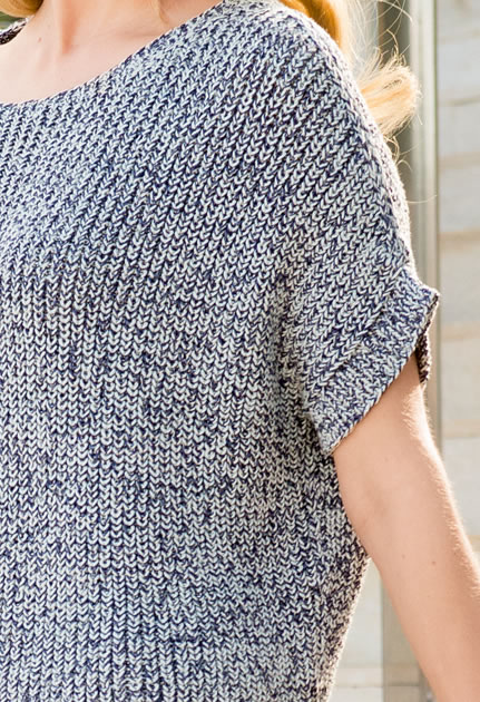 Knitting Pattern Box Jumper : Lana Grossa BOXY SWEATER IN BRIOCHE STITCH Doppio FILATI No. 49 (Fruhjahr/S...