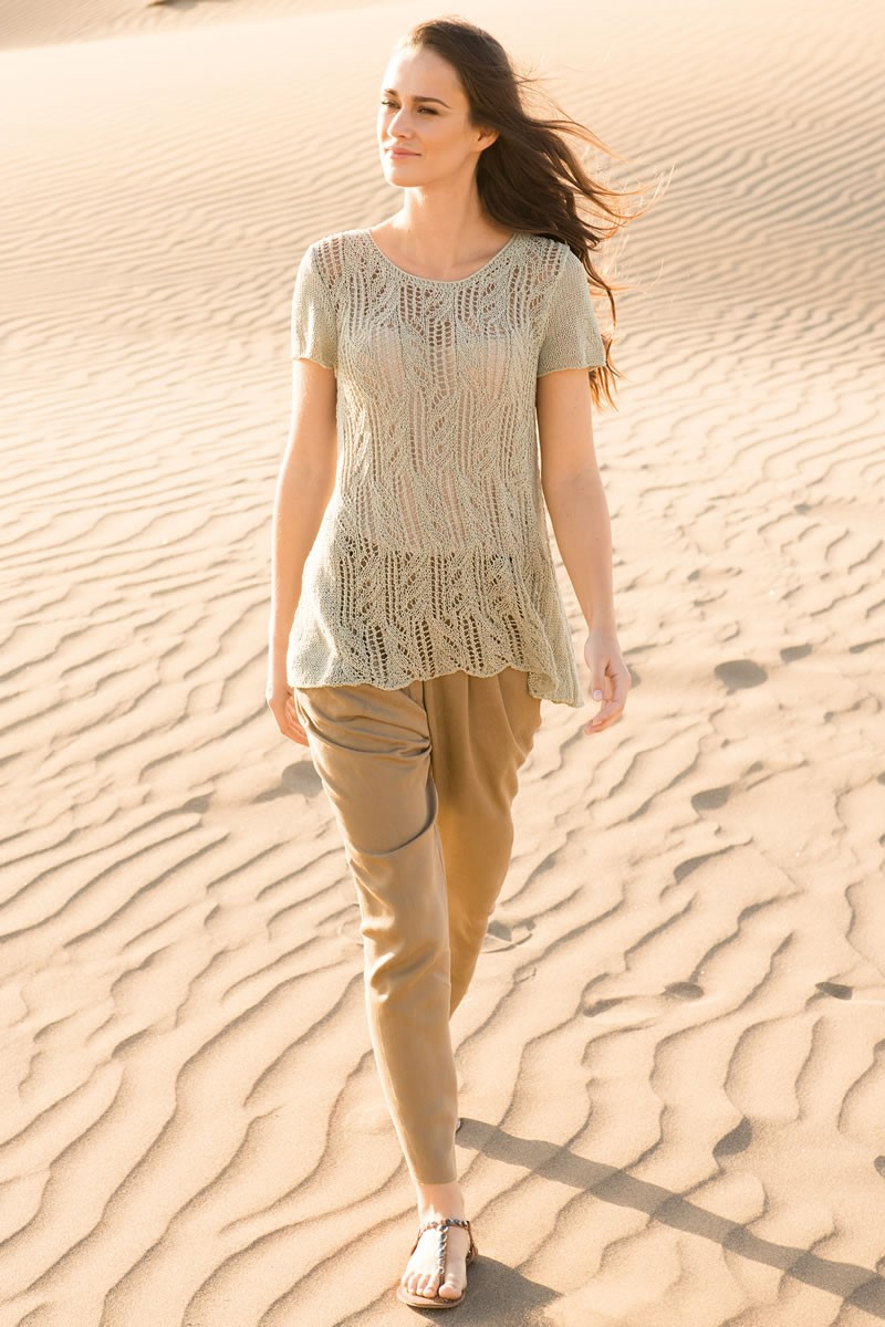 Lana Grossa LACE PULLOVER WITH SIDE GUSSETS Secondo
