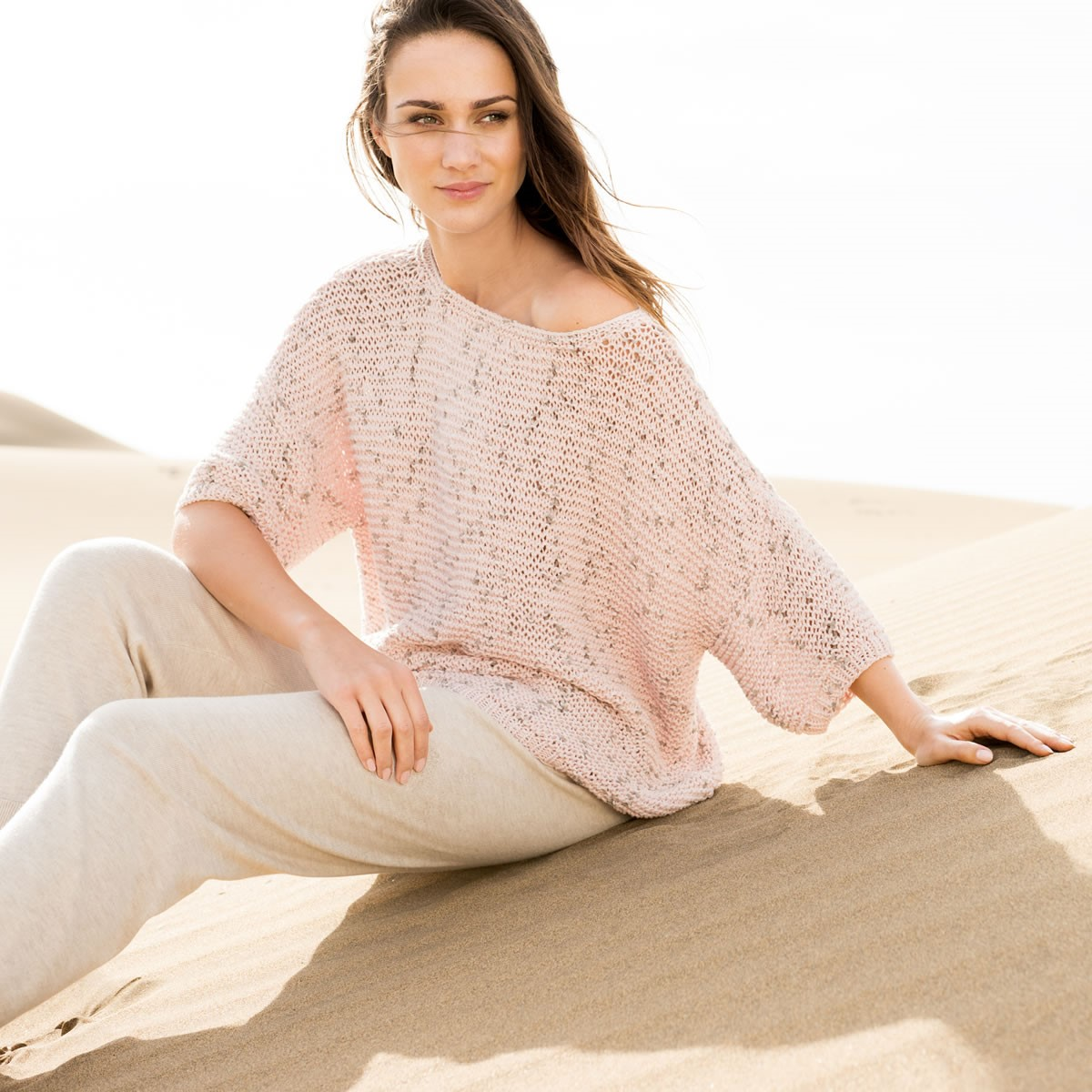 Lana Grossa PULLOVER WITH DROPPED SHOULDERS Lido