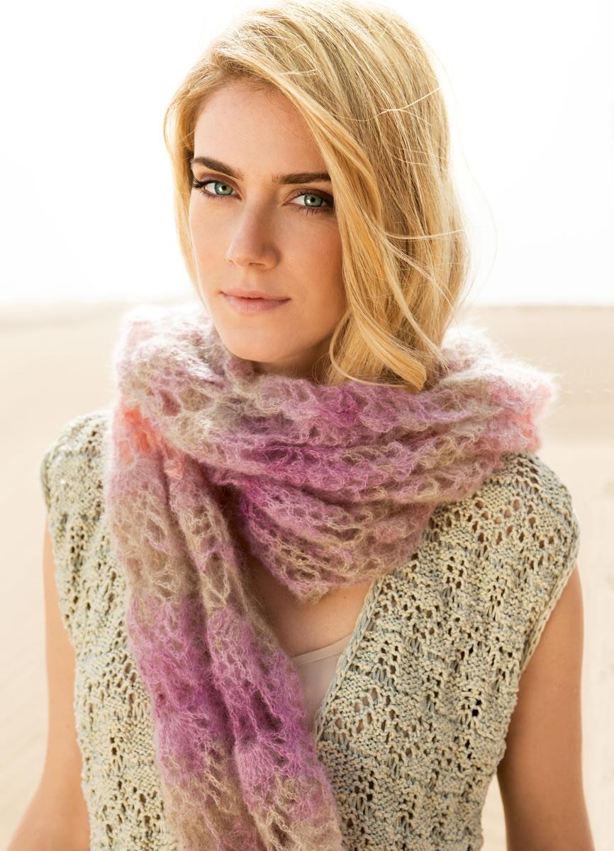 Lana grossa crocheted shawl silkhair print filati no 49 spring summer 2015 magazine de - Lana grossa diva ...