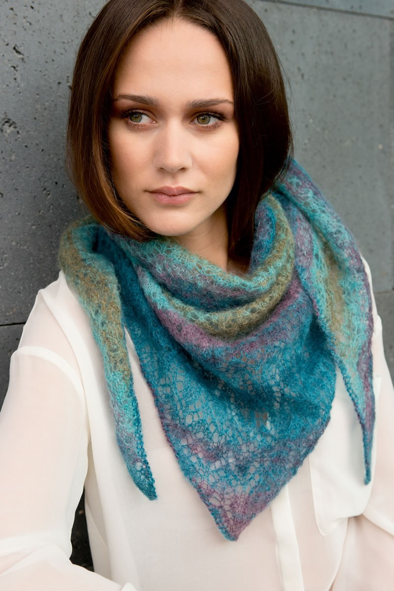 Lana Grossa TRIANGULAR SHAWL Silkhair print