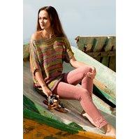 Lana Grossa KIMONO PULLOVER WITH BOATNECK Allegro print