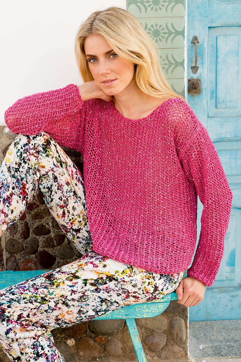 Lana Grossa PULLOVER IN OVERALL MESH PATTERN Opera