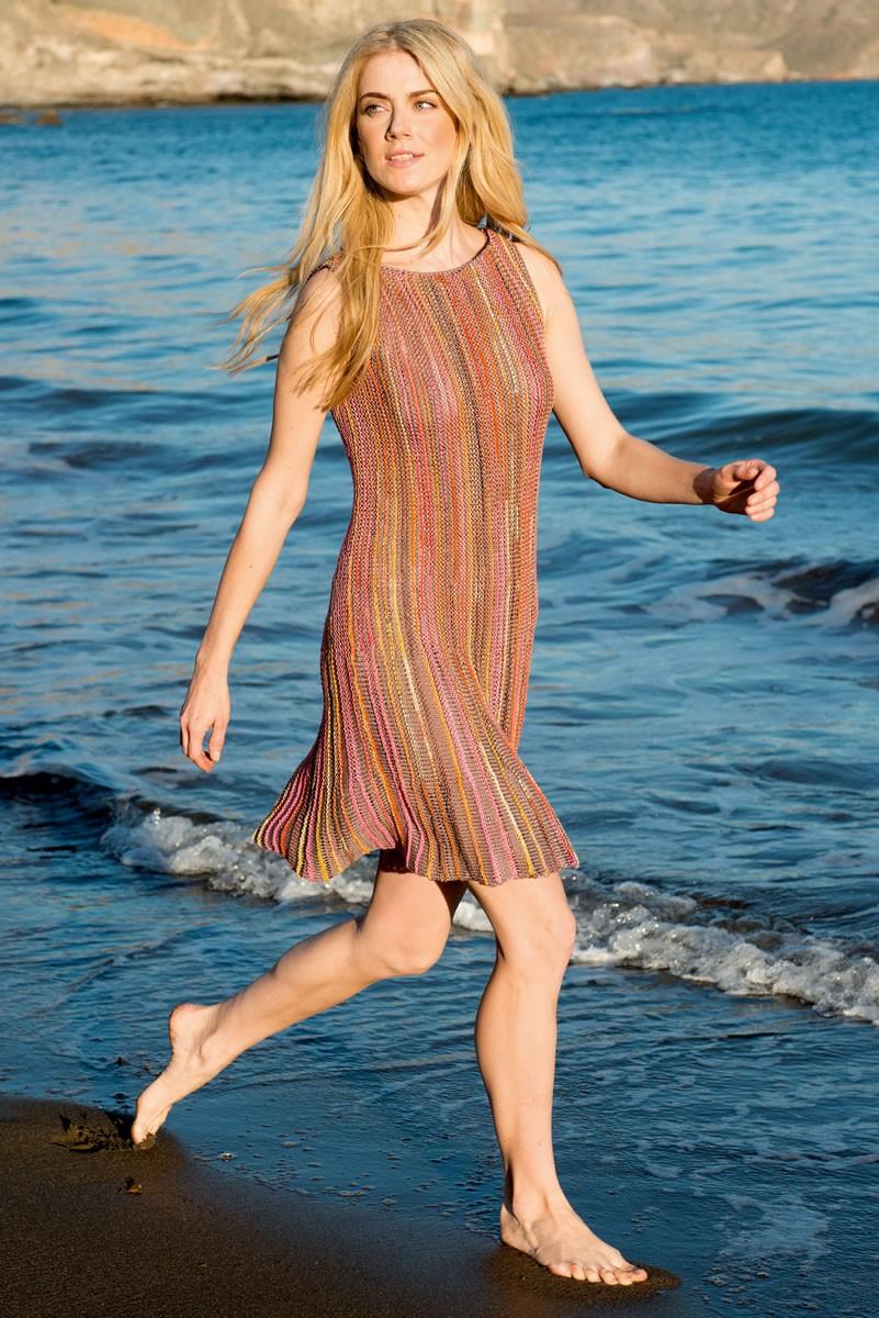 Lana Grossa DRESS WITH VERTICAL STRIPES Allegro Print/Allegro