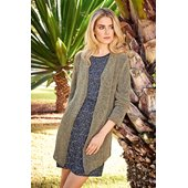 Lana Grossa A-LINE JACKET WITH SHAWL COLLAR Divino
