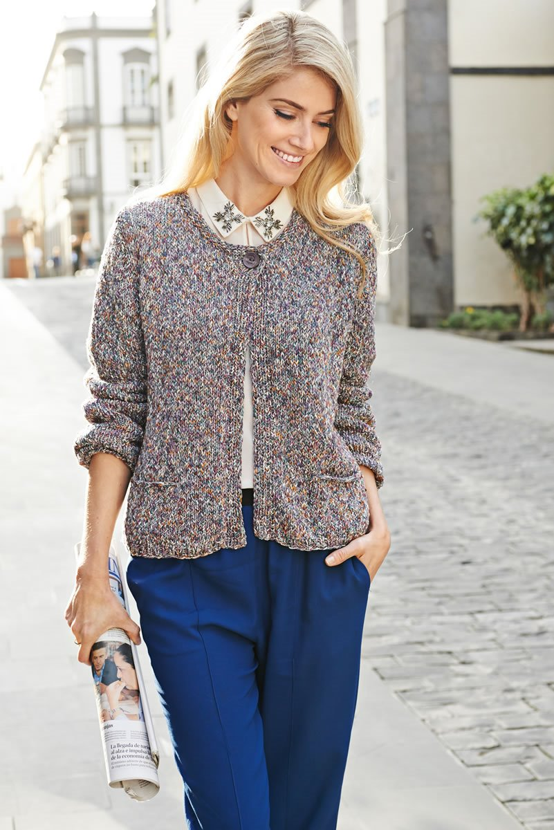 Lana Grossa CARDIGAN WITH POCKETS Musica